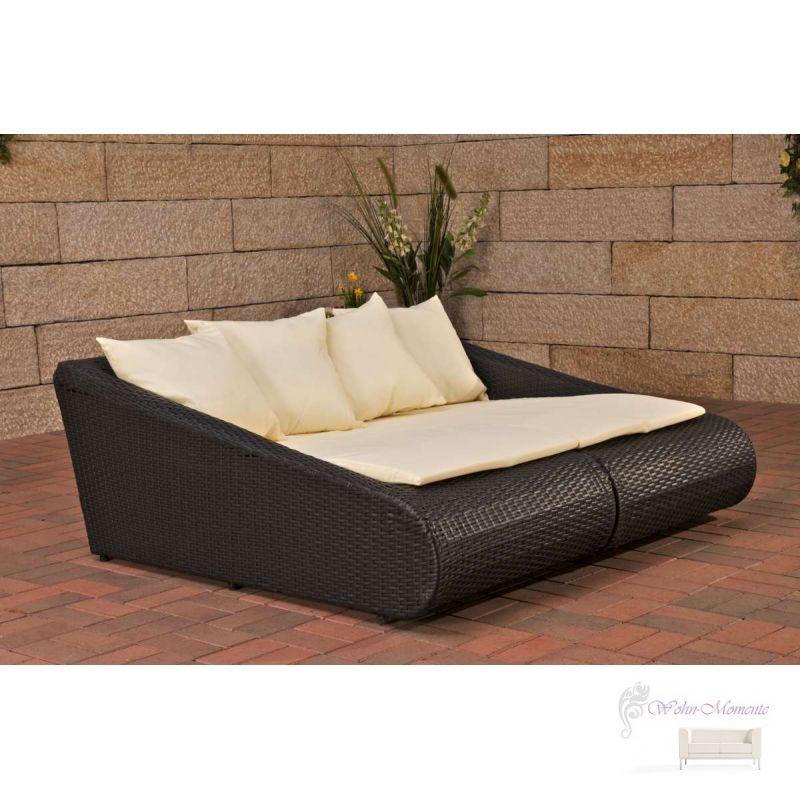 doppelliege loungebett kreta incl polster polyrattan. Black Bedroom Furniture Sets. Home Design Ideas