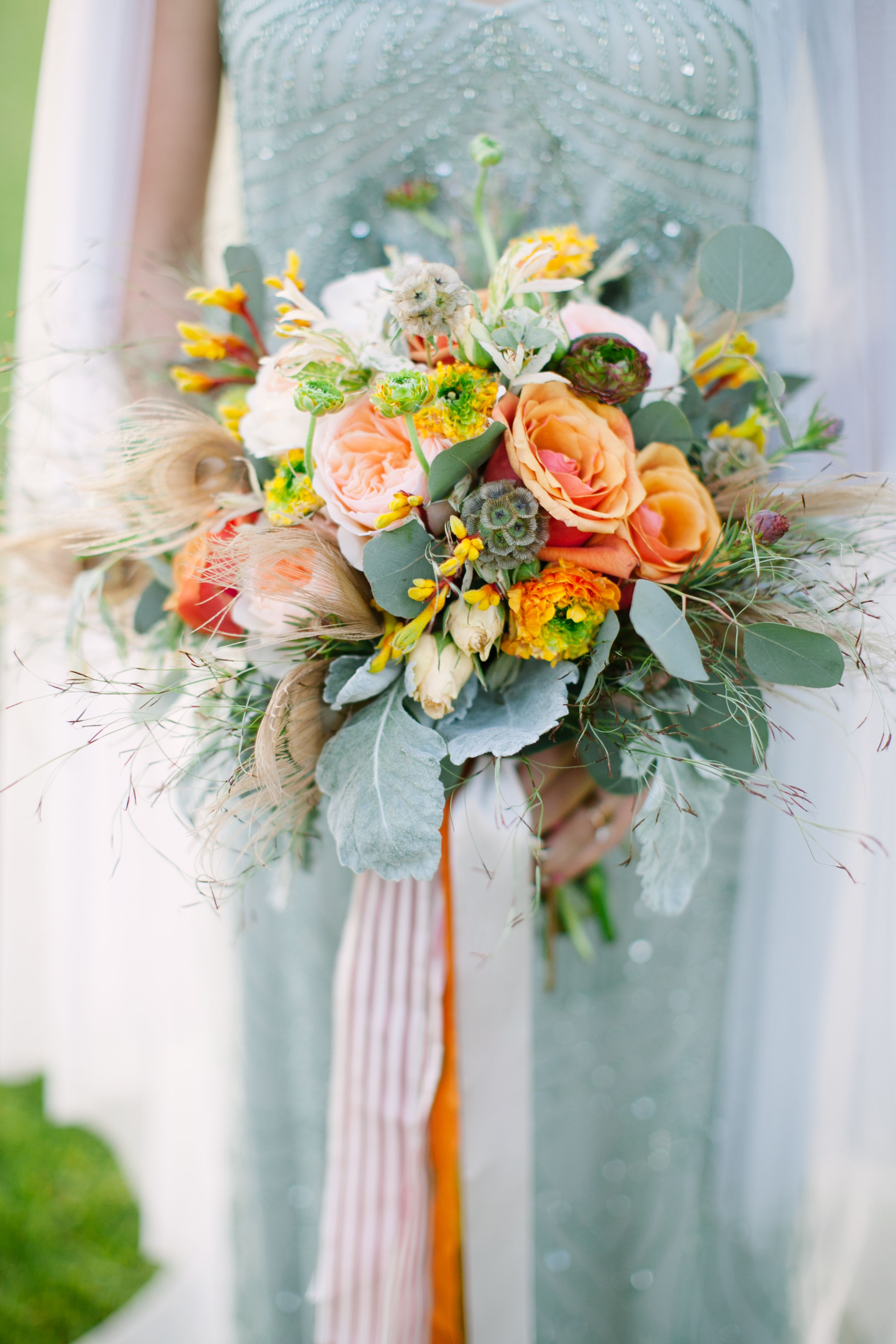Stunning Bouquet With Pops Of Peach By Jessica Wonders Events Photo Electric Lime Photography