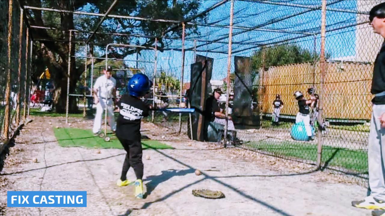 Simple Hitting Tips Teach Kids To Hit A Baseball And Softball Easy Drills Swing Trainer Kids Swing Teaching Kids