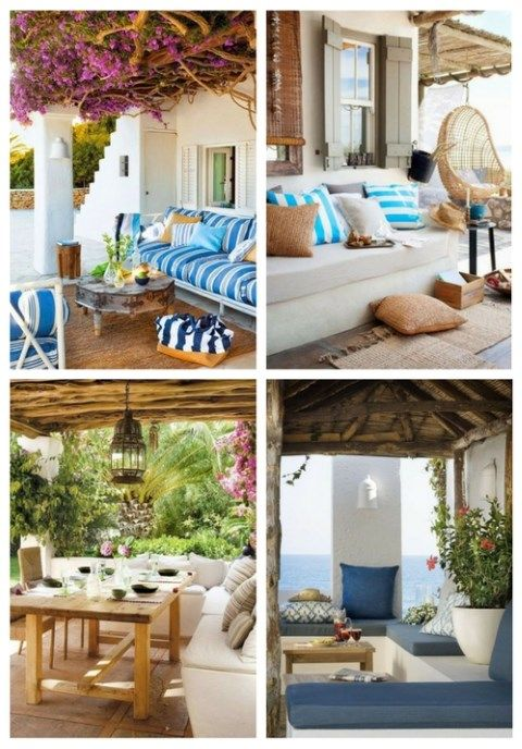 40 Mediterranean Terrace And Patio Decor Ideas | Βεράντα | Pinterest |  Patios, Terrace Design And Decor Styles