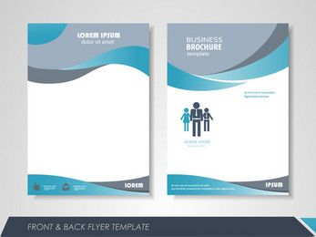 fashion business single page brochure design vector material free