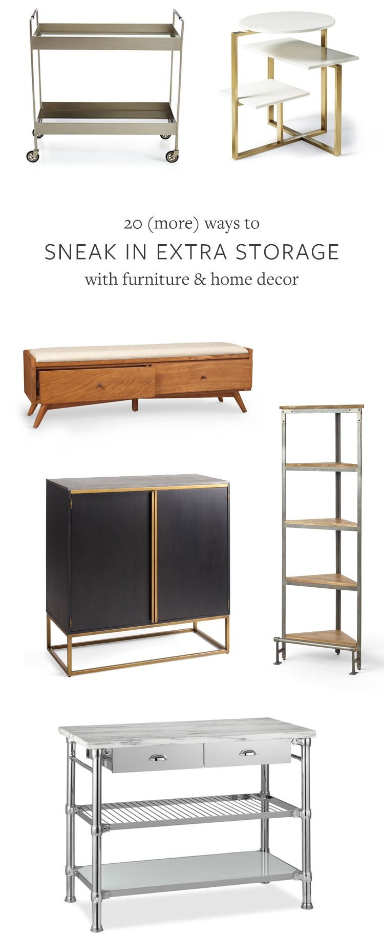 more ways to sneak in extra storage with furniture u home decor