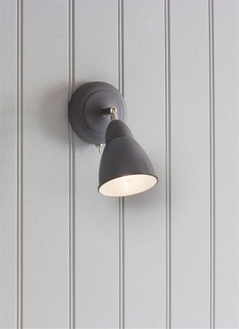 Chiswick Wall Light - Charcoal by Garden Trading