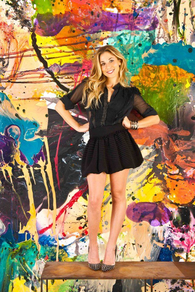the art of Lana Gomez. She's an abstract expressionist artist based out of West Hollywood, CA. She uses acrylics and a mixture of different materials to create one-of-a-kind masterpieces for anyone who likes color and boldness.