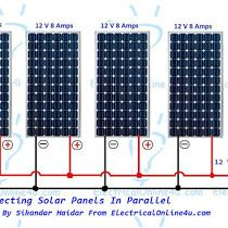 The Complete Method Of Connecting Solar Panels In Series With Wiring Diagram Solar Panels Solar Solar Heating