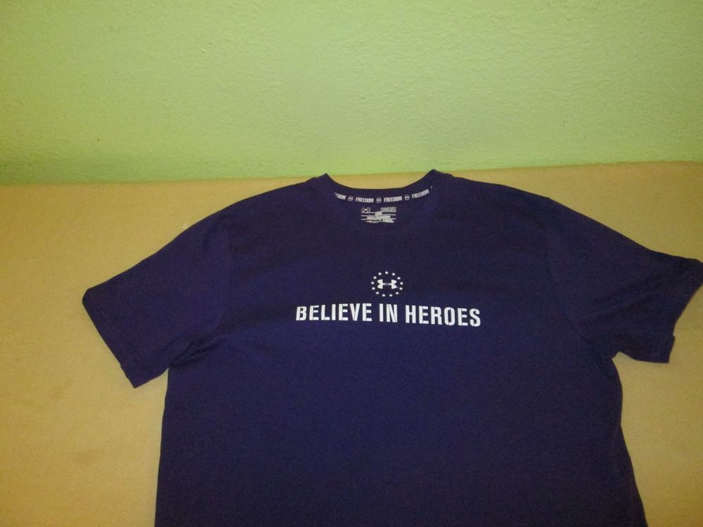 Under Armour Freedom Series T Shirt Sz M Purple Wounded Warrior Project T Shirt Mens Tops Mens Tshirts