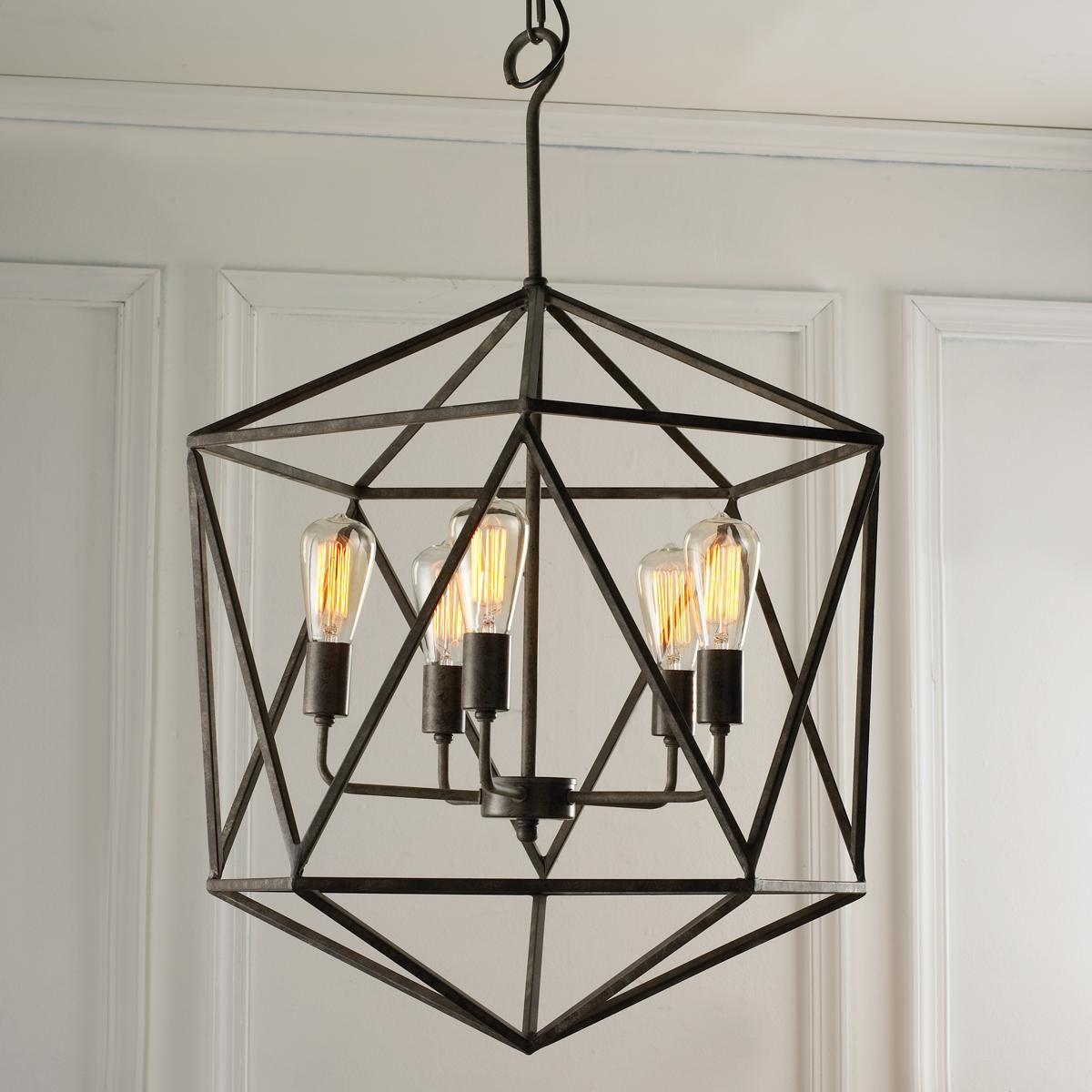 Large prism chandelier industrial chandelier modern for Large modern chandelier lighting