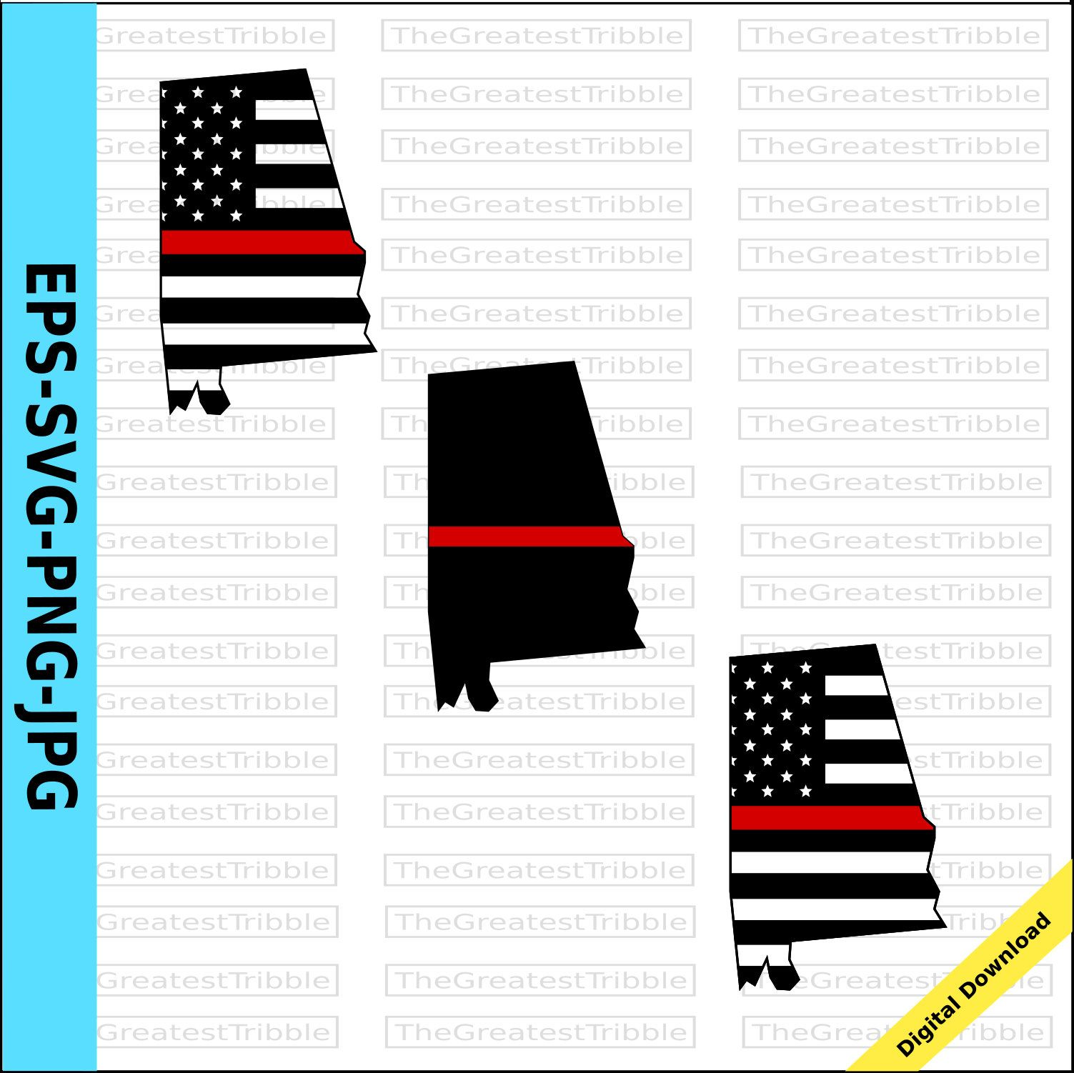 Thin Red Line Alabama Usa Flag Thin Red Line Flag Eps Svg Png Etsy American Flag Clip Art Thin Red Line Flag Clip Art