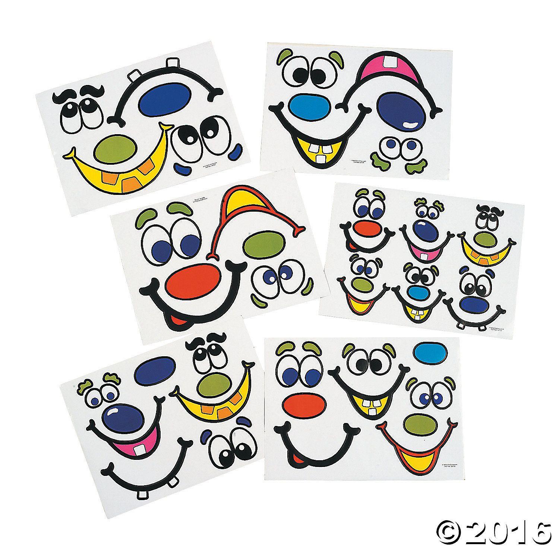 Jack O Lantern Face Stickers