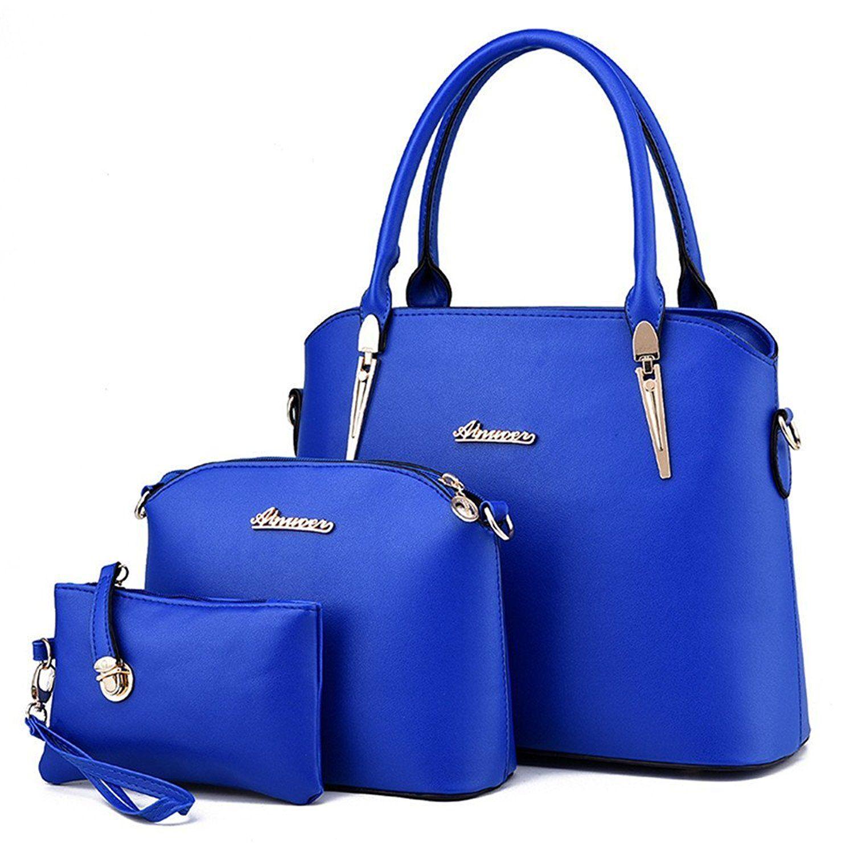 Women Bag Handbag Shoulder Tote Satchel Ladies Retro Cross Body Small Purse Set