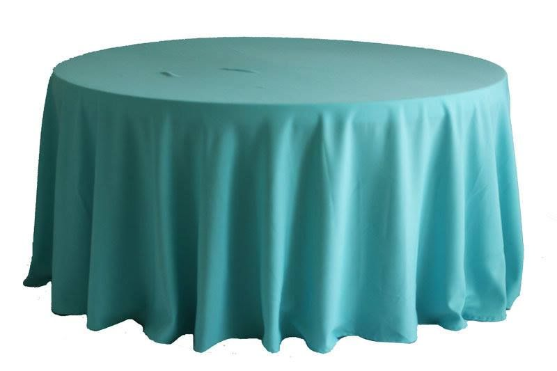 Yes We Have Tiffany Blue Tablecloths In A 120 Round Event