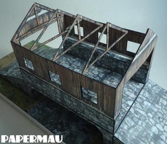 PAPERMAU: The Stone Bridge Paper Model