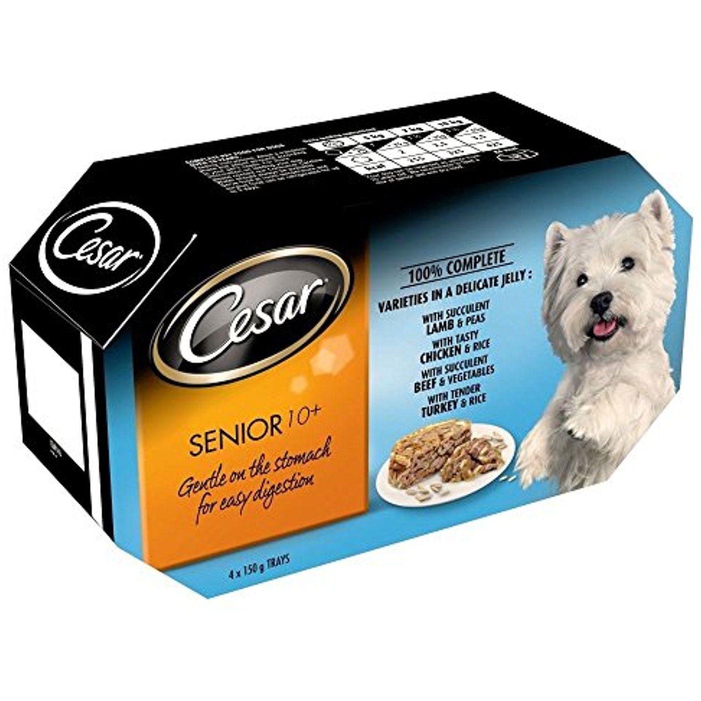 Cesar senior variety pack foil tray 4x150g please