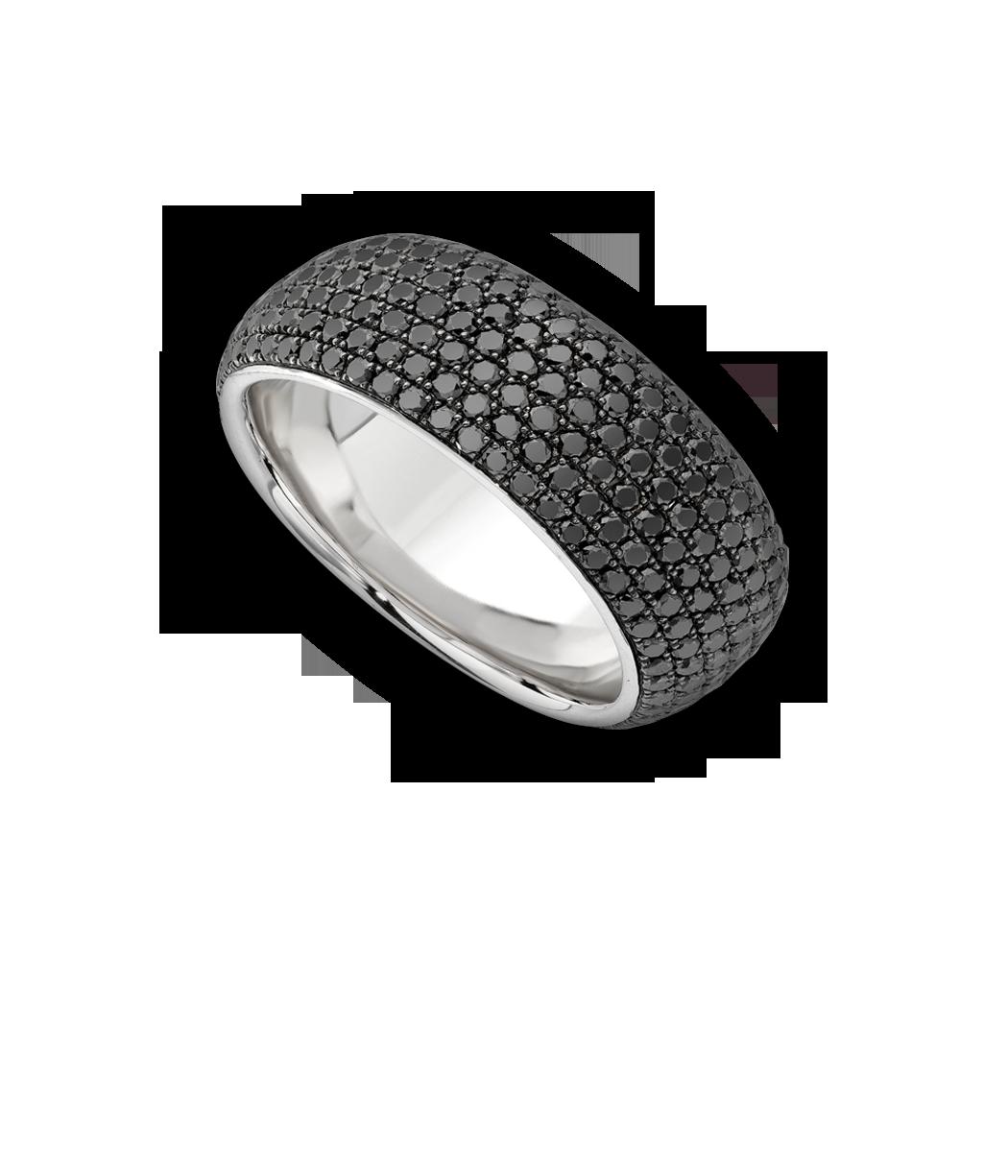 f5caa5b26ba41 Theo Fennell - White Gold & Black Diamond 7 Row Spangle Ring   Fine ...