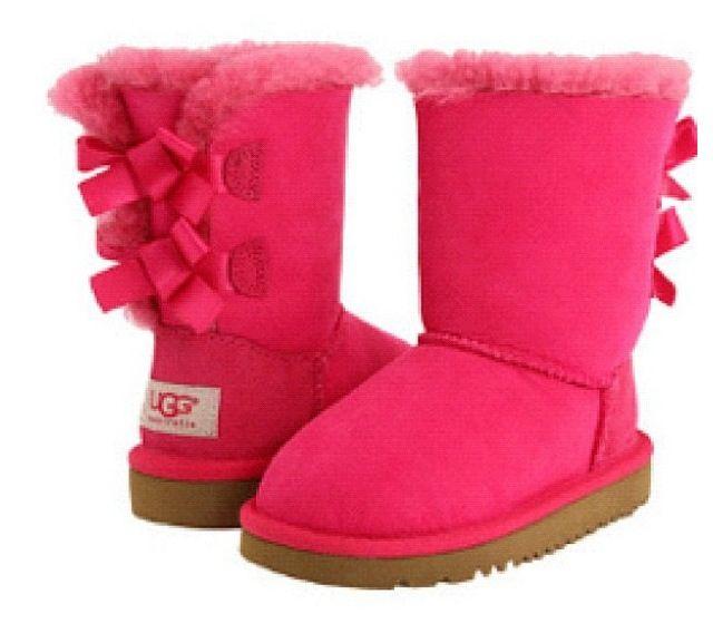 e30c51aff5b Botas ugg rosas con moño atras | Closet | Botas ugg, Botas invierno ...