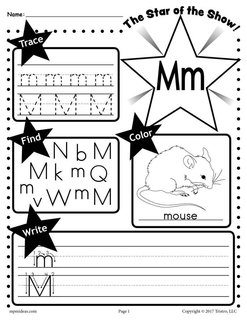 free letter m worksheet tracing coloring writing more printables letter p worksheets. Black Bedroom Furniture Sets. Home Design Ideas