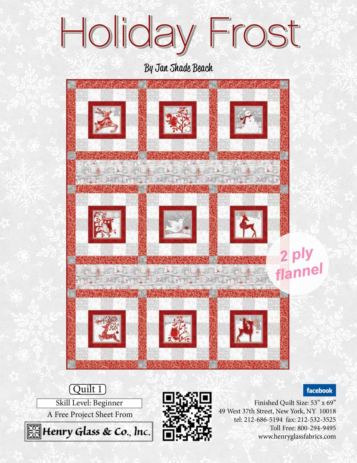 Holiday Frost Quilt Kit