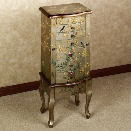 antique jewlery armoire | Powell company Antique parchment ...