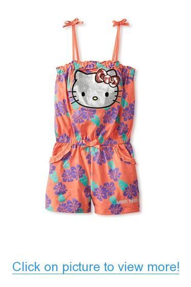 87e55d054 Hello Kitty Girls 2-6X Floral Romper | Hello Kitty | Hello kitty ...