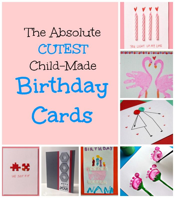 Homemade Birthday Cards for Kids to Create | Homemade birthday ...