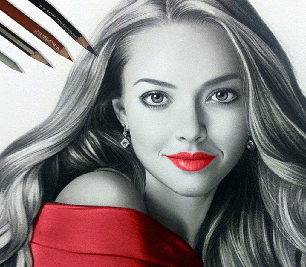 Resultado de imagen de dibujos de rostro en lapiz a color  Dibujo