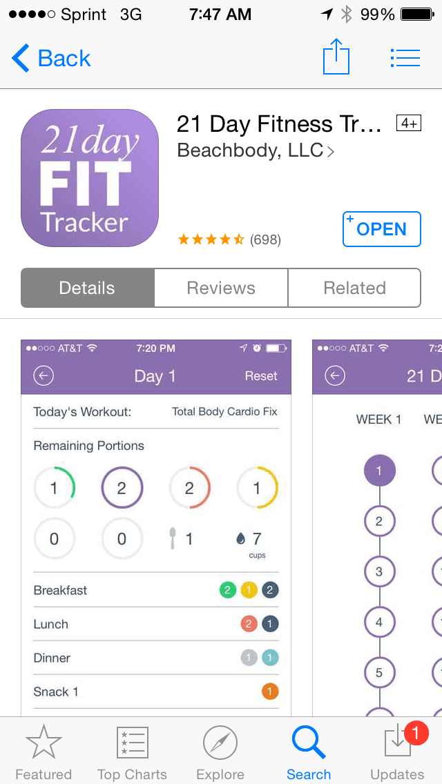 21 Day Fix iOS official tracker walkthrough and review