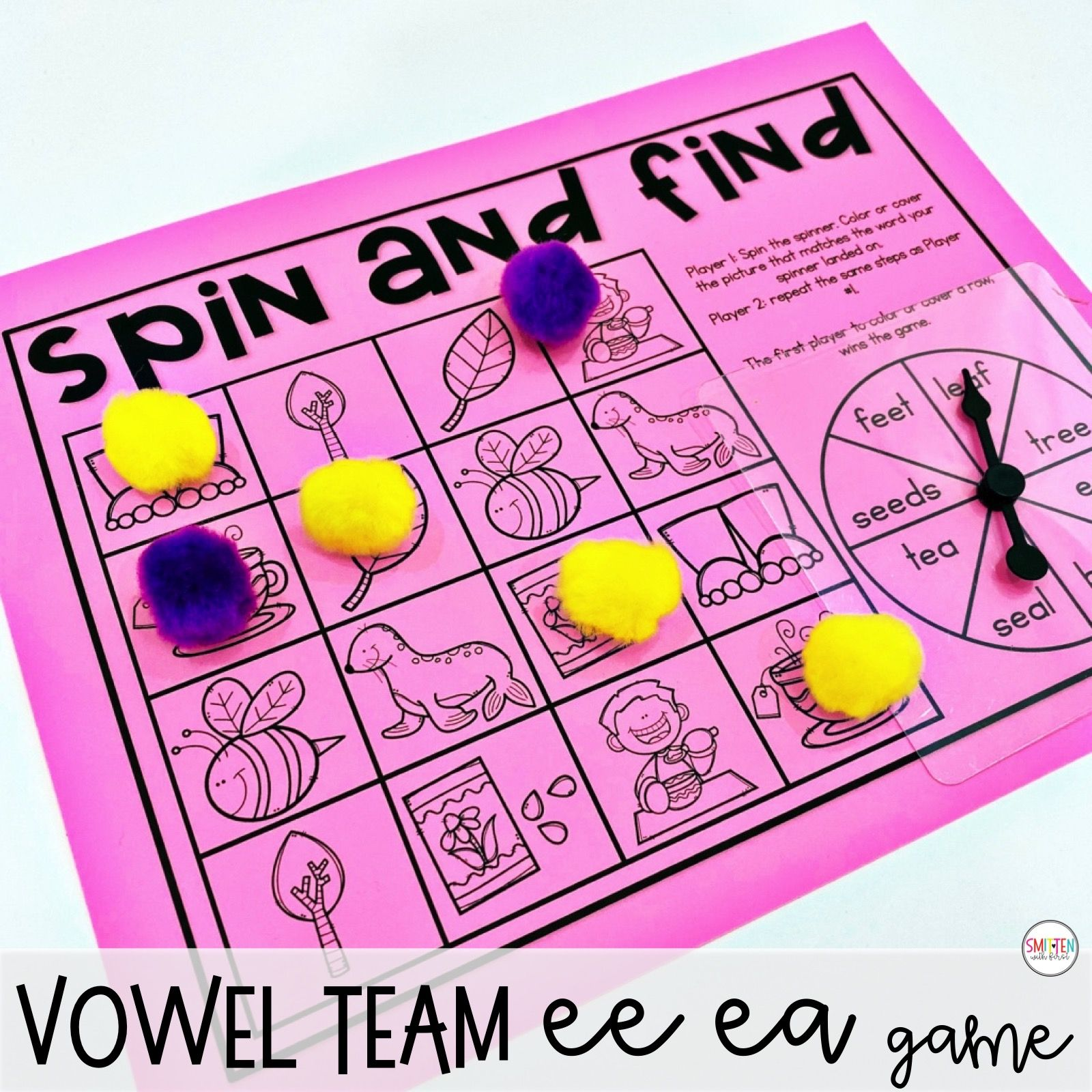 Long E Vowel Teams Ee Ea Phonics Activities And Games