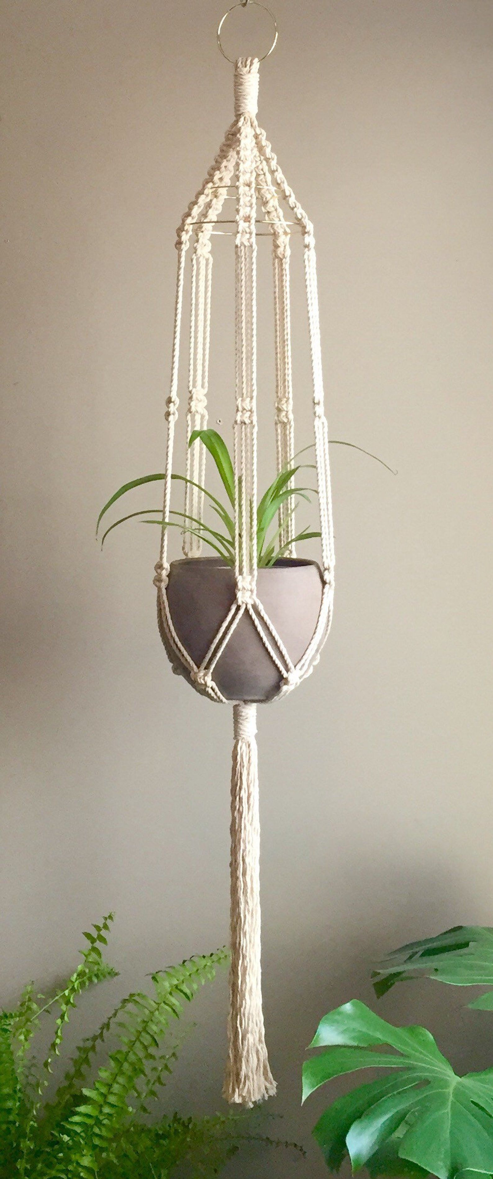 Sabrina Macrame Pattern Beginner Plant Hanger Pdf Diy Tutorial