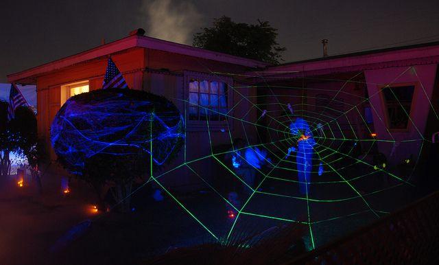 Scary Strobe Lights Spider Lighting For Halloween