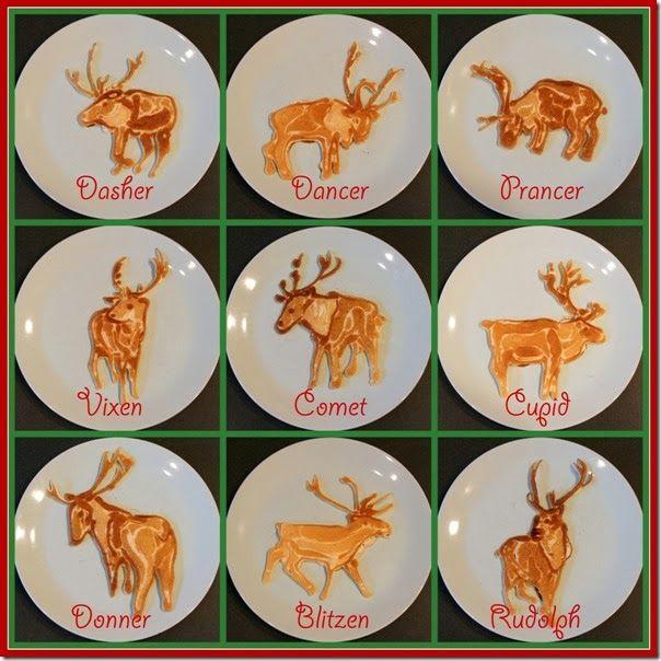 Santa Claus' Nine Flying Reindeer Sculpted Out of Pancakes