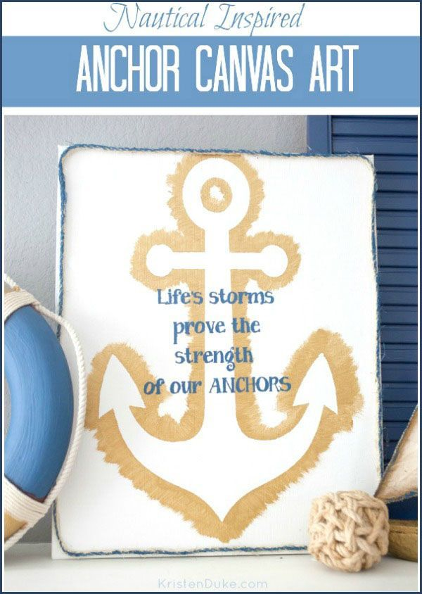 Diy anchor canvas quote art pinterest canvases tutorials and diy anchor canvas quote art solutioingenieria Images
