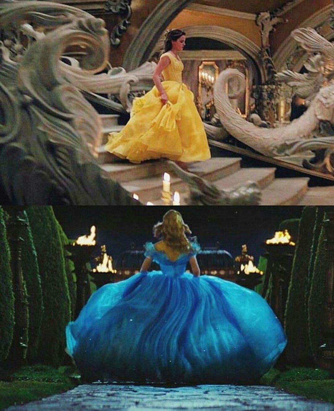 Belle cinderella running away disney live action