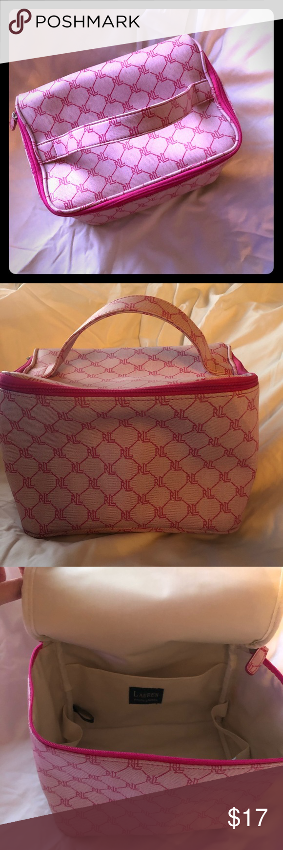 2dd691e4c1 Adorable Pink Ralph Lauren Insulated Lunch Tote This classy Ralph Lauren  insulated lunch bag will make you the talk of the lunch table.