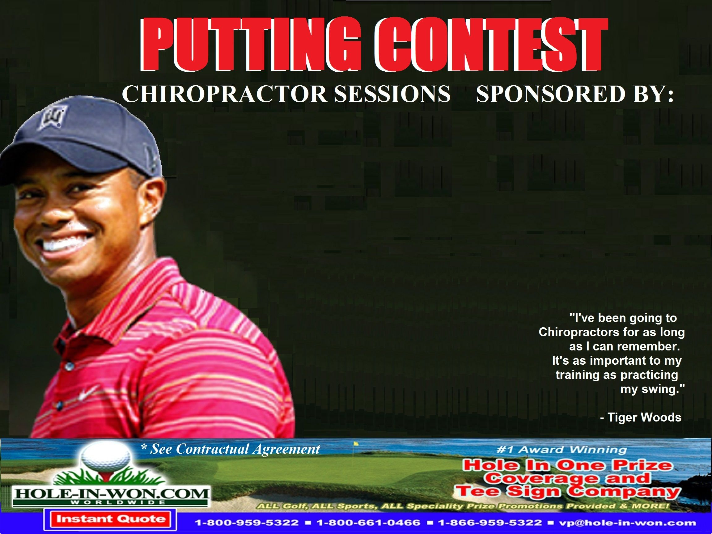 Putting Contest Insurance The One And Only Creator Of Putting