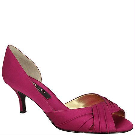 Nina CULVER-YS FUSCHIA LUSTER SATIN by Nina Shoes