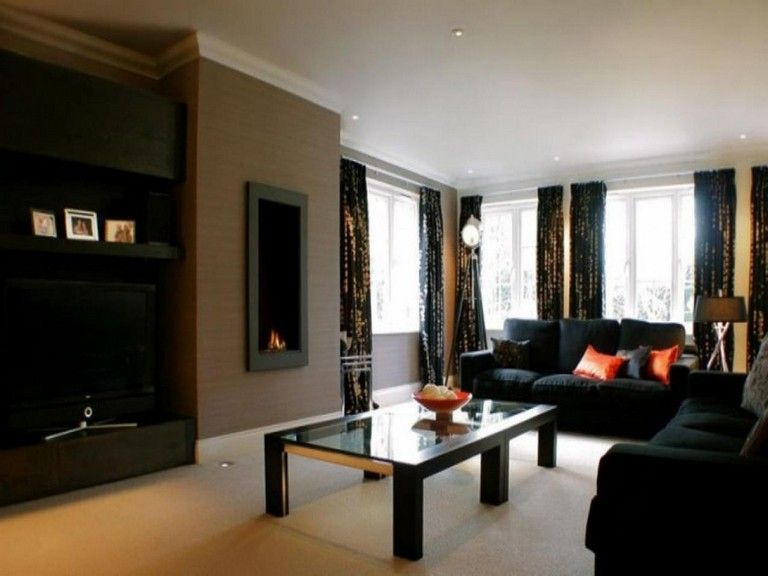 25 Awesome Paint Colors For Living Rooms With Dark Furniture Livingroom Furniture Black Living Room Living Room Color Schemes Paint Colors For Living Room
