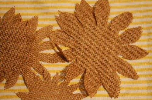 how to make a burlap sunflower - Google Search