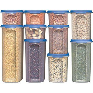 Delicieux Food Storage Containers  STACKO  20 PC.   Airtight Dry Food Container With  Lids, (10 Container Set)