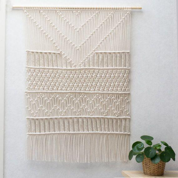 Large Macrame Wall Hanging \ - tapices modernos