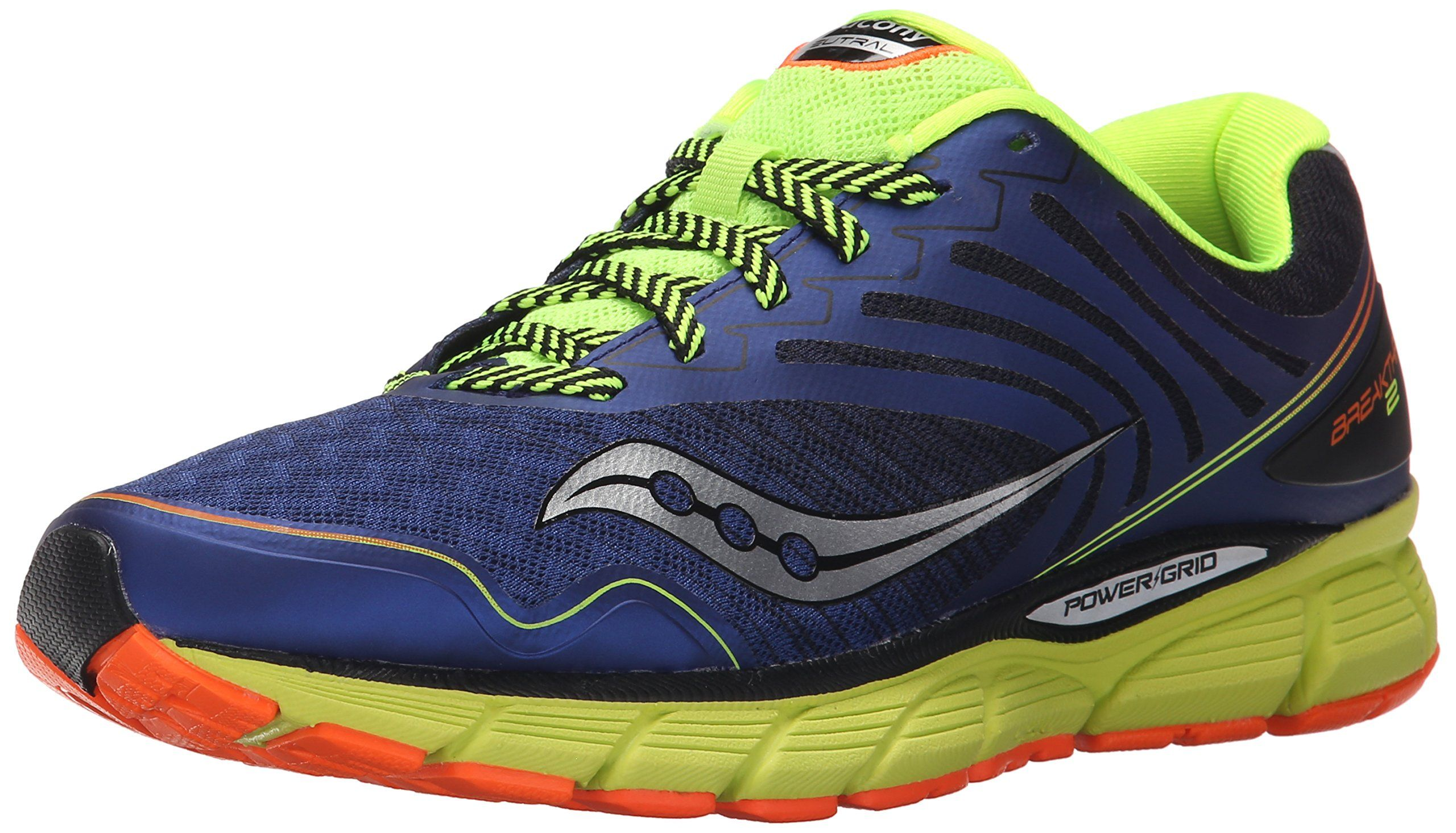 Saucony Men's Breakthru 2 Running Shoe, Blue/Cotton/Orange, 12 M US