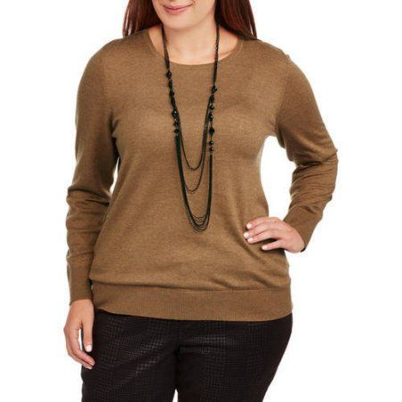Faded Glory Womens Plus Pullover Sweater Beige Pullover Walmart