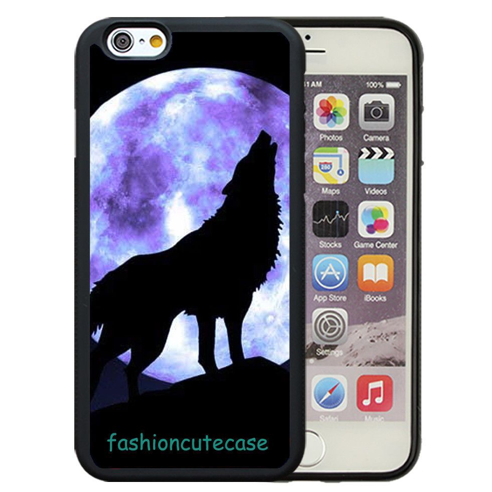 new arrival 30eab 5aa4d Super Cool Wolf Pattern Rubber Phone Case Cover For iPhone 5 6S 7 ...