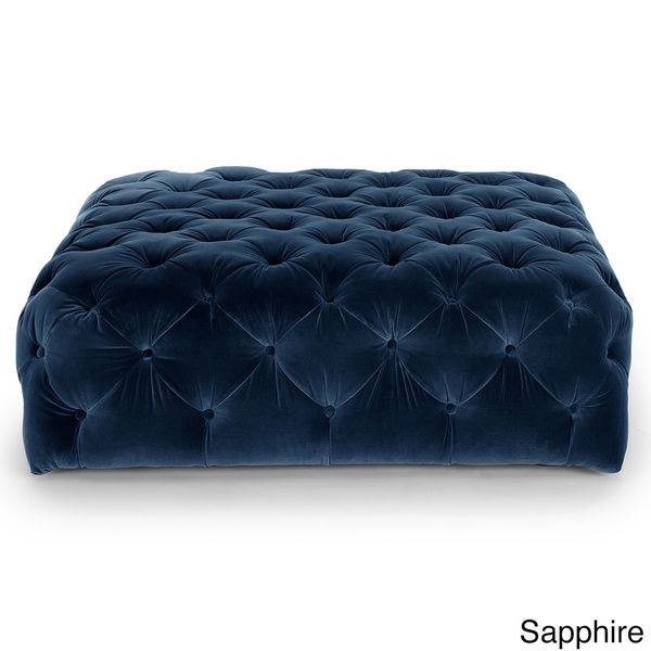 Decenni Custom Furniture Tobias Square Tufted Ottoman | FURNITURE ...