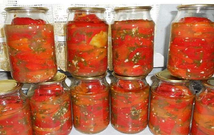перец болгарский с зеленью на зиму рецепты с фото