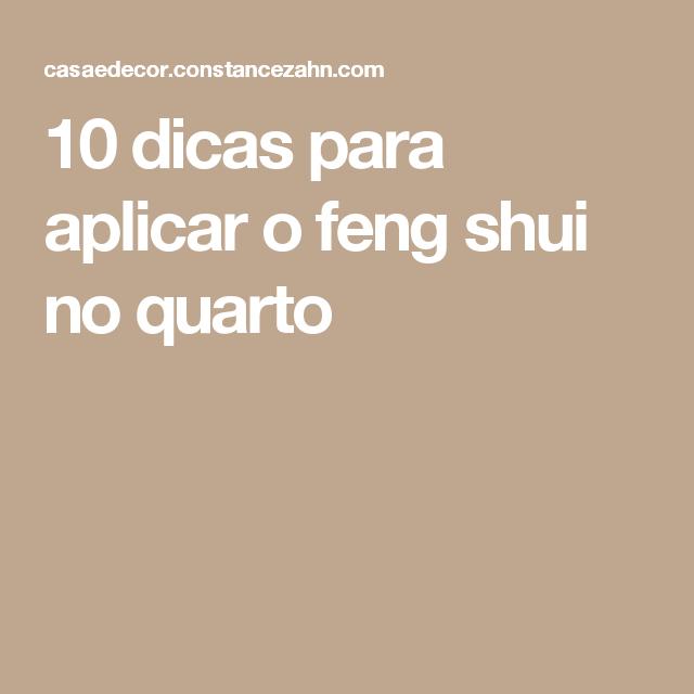 10 dicas para aplicar o feng shui no quarto