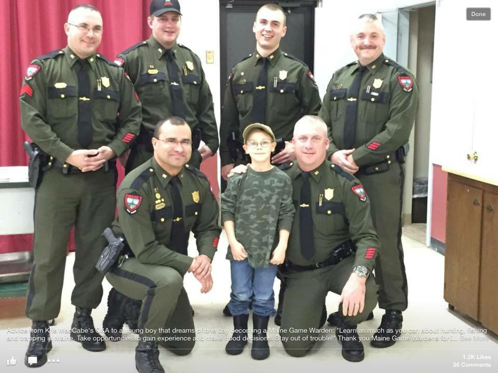 Maine Game Wardens program for Kids to keep out of trouble