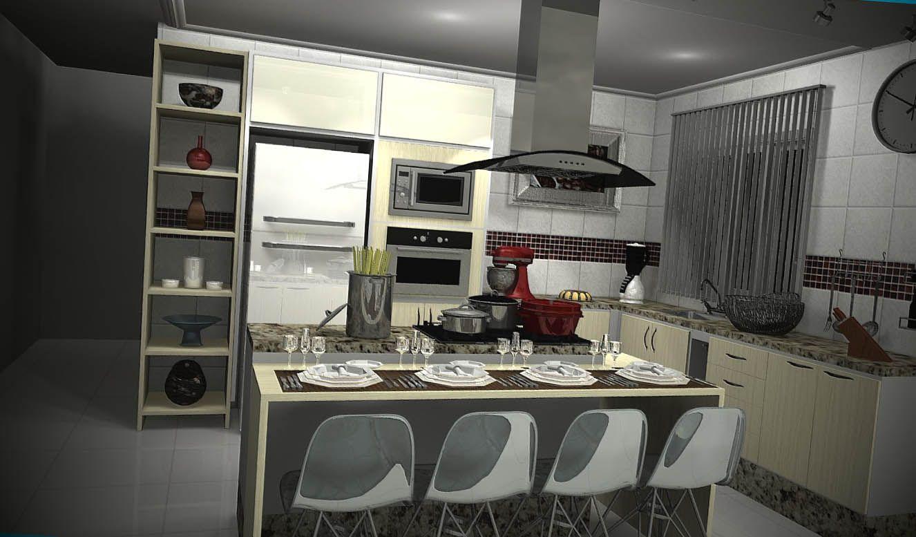 Fotos De Cozinhas Planejadas Com Ilha Pinterest Cozinha