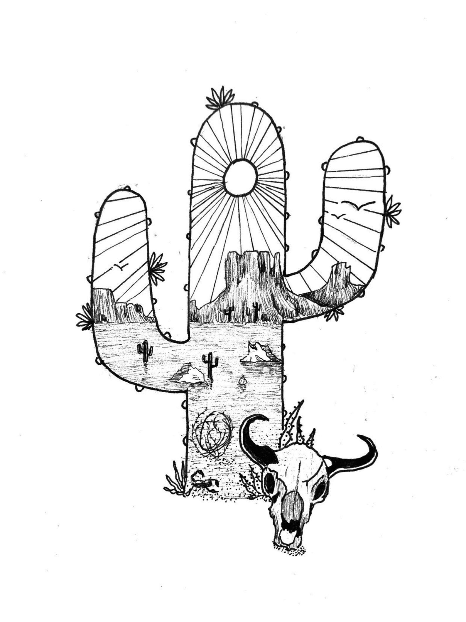Monument Valley Original Ink Artwork