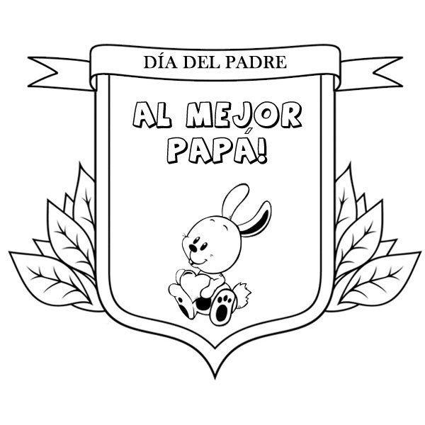 Dibujos Para Pintar Con Ninos Medalla Al Mejor Padre Dia Del Padre Dibujos Dia Del Padre Manualidades Para El Dia Del Padre