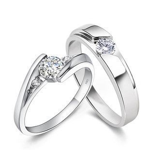 Couple Rings SetsUnique Wedding Ring DesignGenuine S925 Sterling Silver Material3